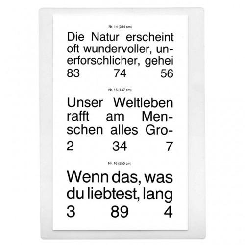 Jaeger Reading Chart German Text 1 Chart 40 Cm Set Of 2 Va