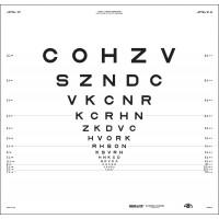 """ETDRS """"2000"""" Sloan Letters  - chart """"1"""""""