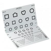 LEA SYMBOLS® Folding Eye Chart (Massachusetts) 3 m