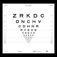 """ETDRS """"2000"""" Sloan Letters  - chart """"2"""""""