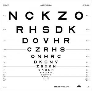 "ETDRS original series 4 m – SLOAN letters, chart ""1"" - NCKZO"