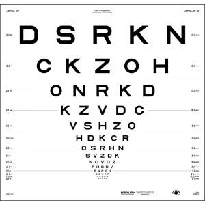 "ETDRS original series 4 m – SLOAN letters, chart ""2"" - DSRKN"