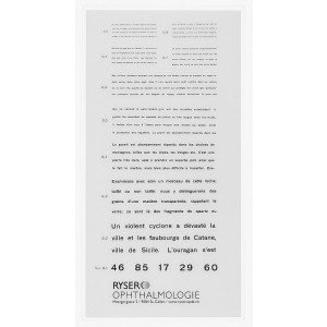 Birkhaeuser reading plate (French text)