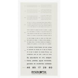 Birkhaeuser reading plate (Spanish text)
