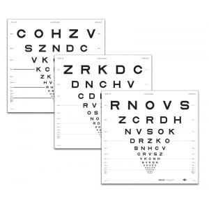 """ETDRS """"2000""""-Tafel """"3"""", Buchstaben 4 m"""