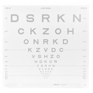 ETDRS Kontrasttafel - SLOAN Buchstaben 10.00 %, 4 m
