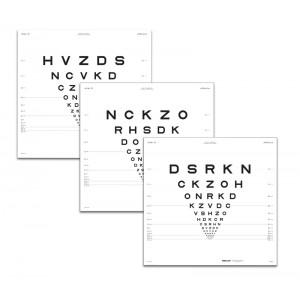 "ETDRS Originalserie Tafel ""1"" Buchstaben 3 m"