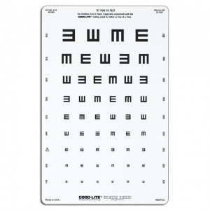 Tumbling E Chart (3 m) translucent,  3 m, 8 positions (wide interspace)