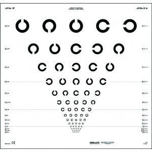 Landolt C ETDRS chart