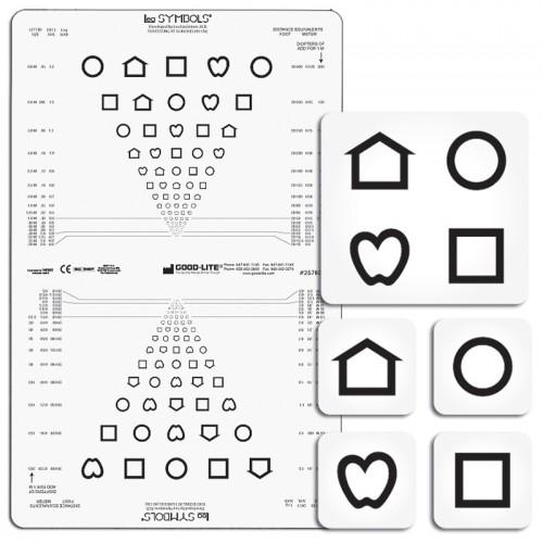 LEA Symbole-Tafel Nähe, lichtdurchlässig