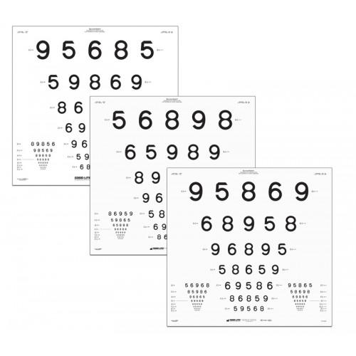 "ETDRS LEA Zahlen-Tafel Tafel ""B"", 4 m"