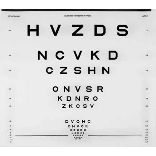 "CSV-1000 ETDRS Buchstaben Tafel ""R"""