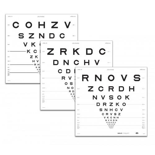 """ETDRS """"2000""""-Tafel """"1"""", Buchstaben 4 m"""