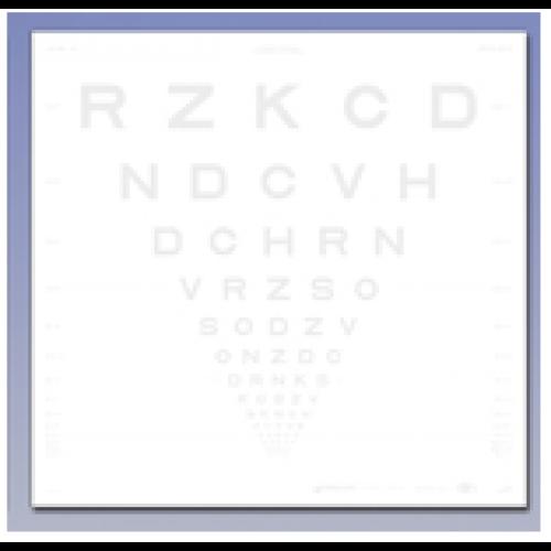 ETDRS Kontrasttafel - SLOAN Buchstaben 1.25 %, 4 m