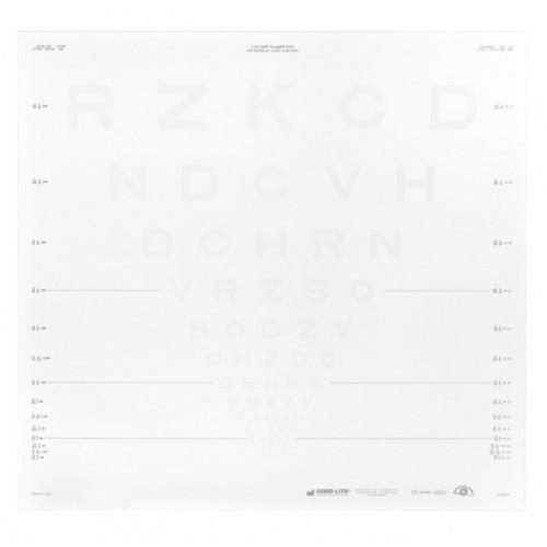 ETDRS Kontrasttafel - SLOAN Buchstaben 2.5 %, 4 m