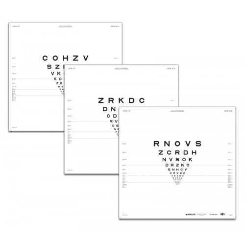 "ETDRS ""2000""-Serie Tafel ""3"" Buchstaben 2 m"