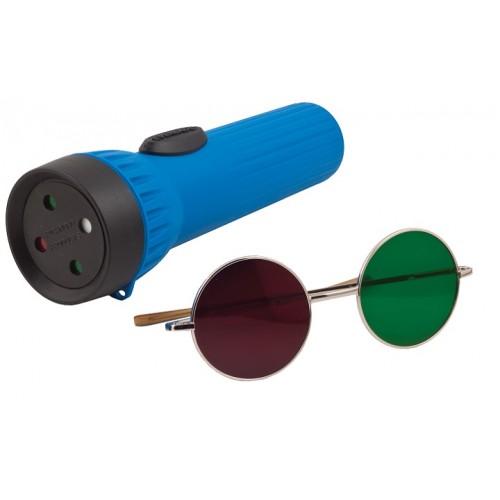 Worth Rotgrüntest 4 Lichter - Taschenlampe