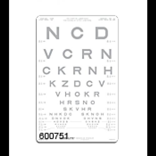 SLOAN-Buchstaben Kontrastfafel 10