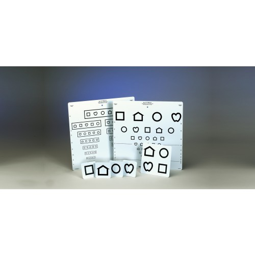 LEA Symbole / Screening-Tafel mit 10 Linien (Massachusetts) 3 m