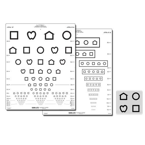 LEA Symbole Screening-Tafel 15 Linien (Massachusetts 3m)