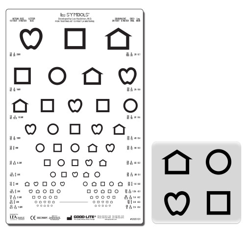 LEA Symbole 12 Linien Set 4 m, Wiederholungsgr. lichtdurchlässig