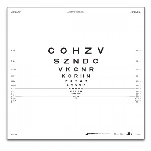 "ETDRS ""2000""-Serie Tafel ""1"" Buchstaben 2 m"