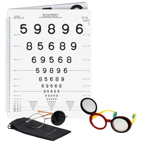 LEA Low Vision Buch Zahlen, Set left bound
