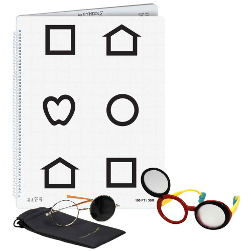 LEA Low Vision Buch Symbole, Set left bound
