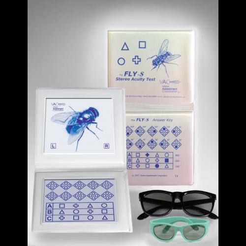 Stereotest Fliege mit geometrischen Figuren