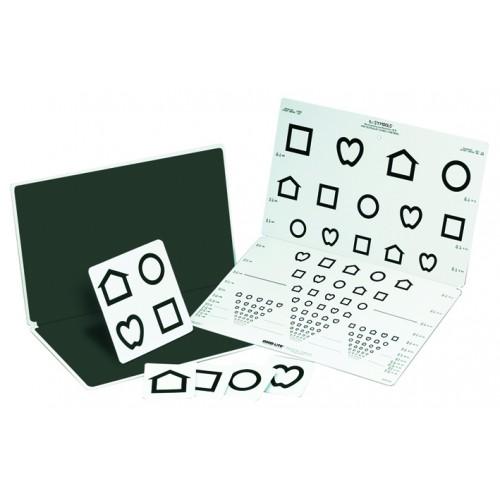 LEA Symbole/Screening, faltbare Tafel mit 15 Linien