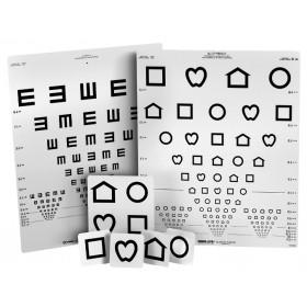 Wandtafel LEA™-Symbole/E-Haken (mit 15 Linien, 3 m)