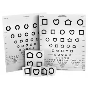 Wandtafel LEA™-Symbole/Landolt-Ringe (mit 15 Linien, 3 m)