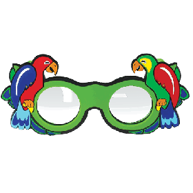 Refraktionsbrille Papagei (+3,00 D)
