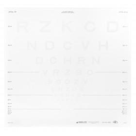 ETDRS-Kontrasttafel – SLOAN-Buchstaben 2,5 % (4 m)