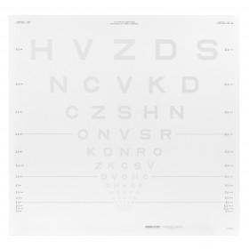 ETDRS-Kontrasttafel – SLOAN-Buchstaben 5 % (4 m)