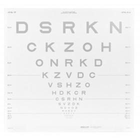 ETDRS-Kontrasttafel – SLOAN-Buchstaben 10 % (4 m)