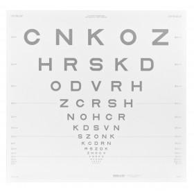 ETDRS-Kontrasttafel – SLOAN-Buchstaben 25 % (4 m)