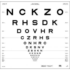 "ETDRS-Originalserie 4 m – SLOAN-Buchstaben, Tafel ""1"" - NCKZO"