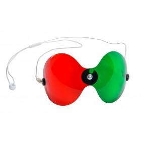 Rotgrünbrille, gebogen