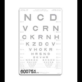 SLOAN-Buchstaben – Kontrasttafel 10 %