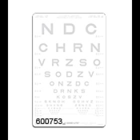 SLOAN-Buchstaben – Kontrasttafel 2,5 %