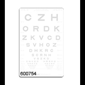 SLOAN-Buchstaben – Kontrasttafel 1,25 %