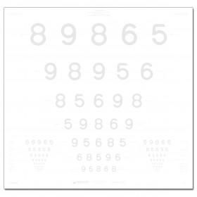 ETDRS-Kontrasttafel – LEA™-Zahlen 2,5 %, 4 m