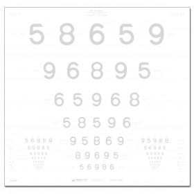ETDRS-Kontrasttafel – LEA™-Zahlen 10 %, 4 m