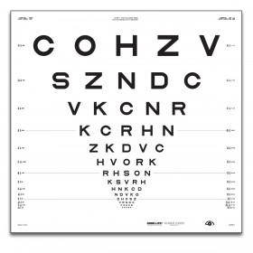 """ETDRS """"2000"""" – SLOAN-Buchstaben, Tafel """"1"""" COHZV (4 m)"""