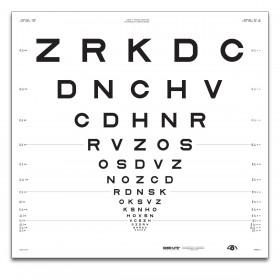 "ETDRS ""2000"" – SLOAN-Buchstaben, Tafel ""2"" ZRKDC (4 m)"