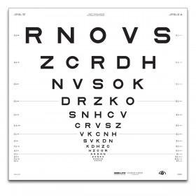 "ETDRS ""2000"" – SLOAN-Buchstaben, Tafel ""3"" RNOVS (4 m)"