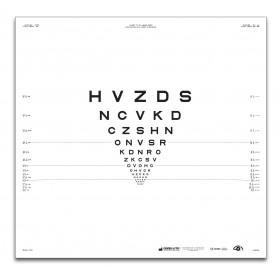 "ETDRS-Originalserie 2 m – SLOAN-Buchstaben, Tafel ""R"" HVZDS"