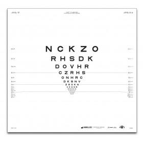 "ETDRS-Originalserie 2 m – SLOAN-Buchstaben, Tafel ""1"" NCKZO"