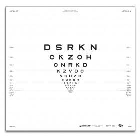 "ETDRS-Originalserie 2 m – SLOAN-Buchstaben, Tafel ""2"" DSRKN"